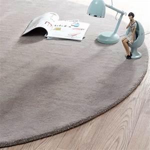 tapis rond soft taupe 200 cm diametre maisons du monde With tapis rond diametre 200
