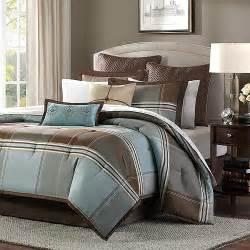 home essence daniel 8 piece comforter set blue brown walmart com