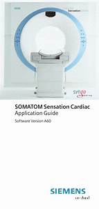Siemens Somatom Sensation Cardiac A60 User Manual