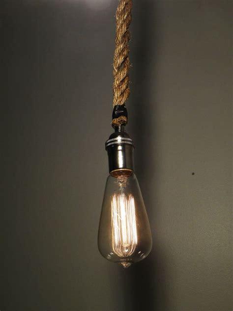 rope pendant light rope pendant light modern industrial chandelier rustic
