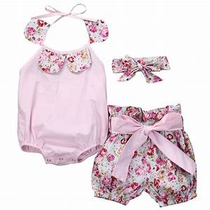 Baby girl clothes summer 2016 Baby girl 3pieces suits ...