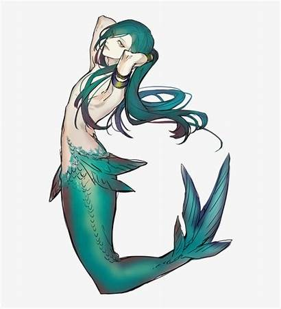 Mythical Anime Creature Drawing Male Mermaids Drawings
