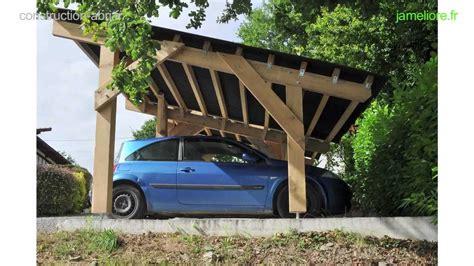 abri bois voiture construction abri voiture