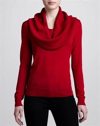 Sweater Cowl Crimson Neck Kors Michael Lyst