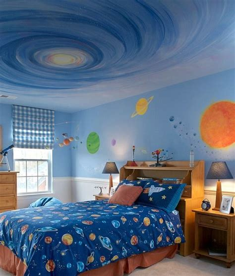 Bedroom Decorating Ideas Theme by Awesome Galaxy Bedroom Wall Murals Theme Painting