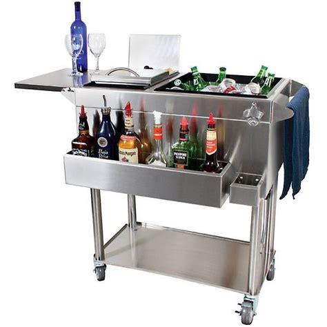 kitchen island wine rack glastender portable stainless steel cocktail station cart
