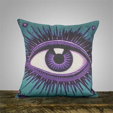 teal and pillows eye pillow teal and amethyst decorative throw pillow