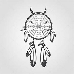 Tatouage Capteur De Rêve : capteur de r ves d 39 indien isol sur fond blanc illustration vectorielle pour votre oeuvre ~ Melissatoandfro.com Idées de Décoration