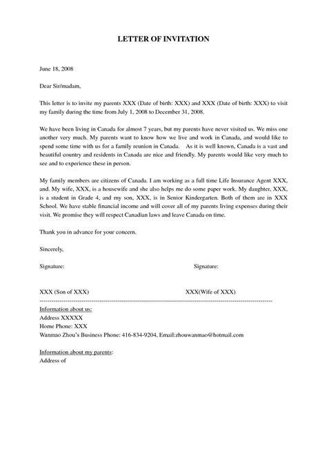 Super Visa Invitation Letter Notarized Sample | Visa