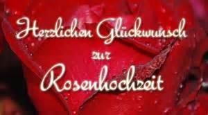zum hochzeitstag rosenhochzeit glückwünsche