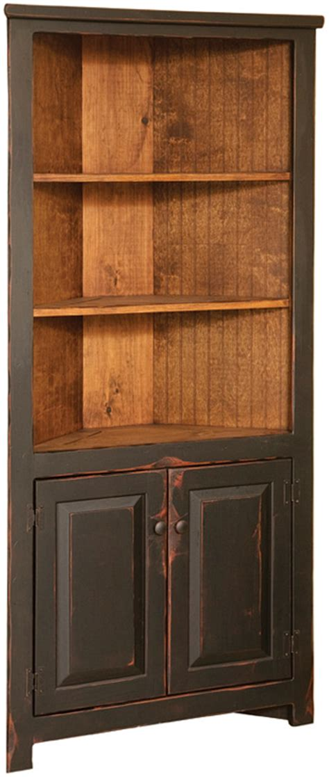 Black Corner Cupboard by Vintage Cupboard Pine 32 Quot Corner Cupboard Cabinets