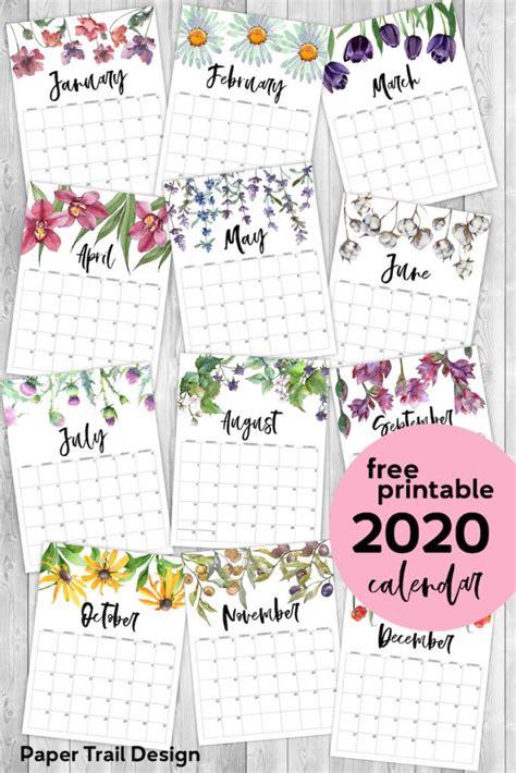printable calendar floral  printable