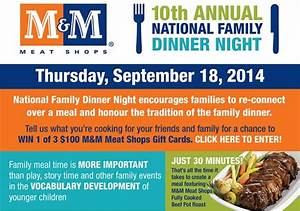 10th Annual National Family Dinner Night