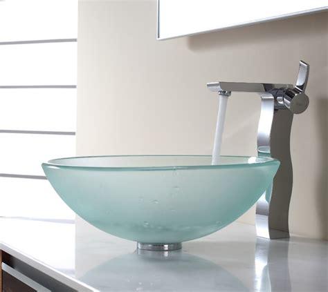 beautiful glass vessel sinks