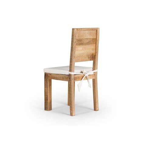 chaise bois massif chaise chennai en bois de manguier massif achat vente