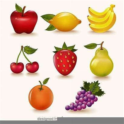 Fruit Fruits Clipart Vector Colorful Printable Pack