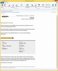 Amazon Mein Konto Rechnung : ihr konto ist unsicher von amazon info ist phishing vorsicht e mail ~ Themetempest.com Abrechnung