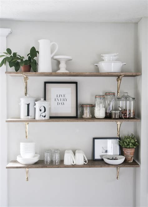 Decorating Ideas For Kitchen Plant Shelves by 8 Ways To Style Open Shelving In The Kitchen Open