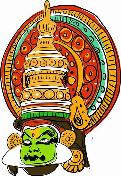 Kathakali Vector Illustration Indian Clipart Dancing Vecteezy