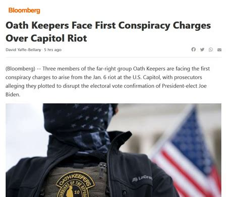 Oath Keepers Face First Conspiracy Charges Over Capitol