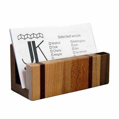 Card Business Holder Wood Creative Type Jk