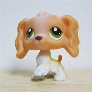 Littlest Pet Shop Lps Loose Toys Orange White Cocker Dog