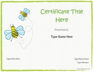 blank certificates blank certificate template for kids With certificate street templates blank