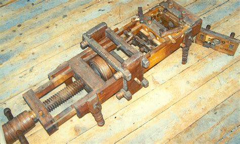 vintage spindle threading machine popular woodworking