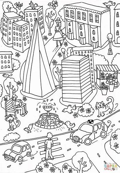 Coloring Hospital Pages Printable Guy Drawing London