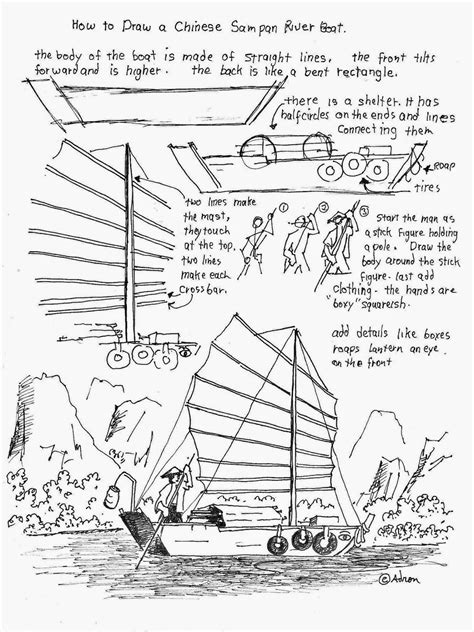 How To Draw A Pilgrim Boat by How To Draw Worksheets For The Artist How To Draw A