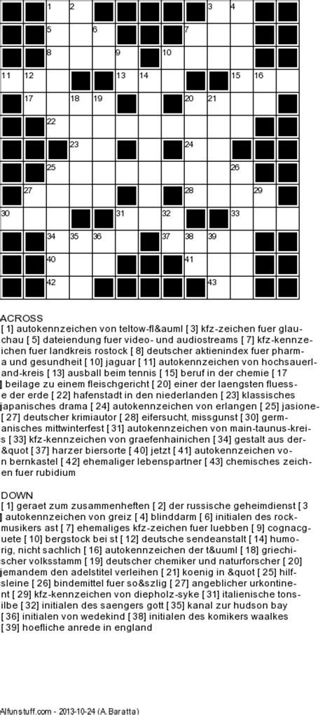 german crossword puzzlesprintable german word games