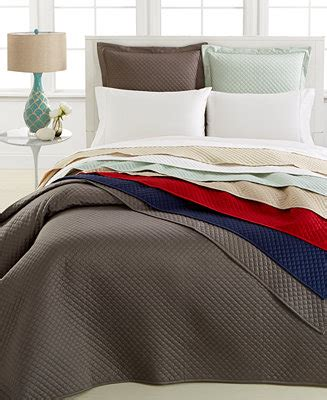 charter club bedding damask quilted  pc coverlet set