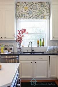 give your roman shades a new look remodelando la casa With kitchen roman shades