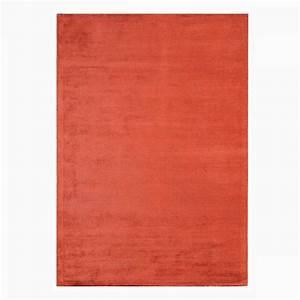 Tapis En Coton : tapis contemporain rouge en viscose et coton tiss main ~ Nature-et-papiers.com Idées de Décoration