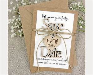 wood quotsave the datequot wedding invitations mon cheri bridals With wedding invitations with save the date magnet