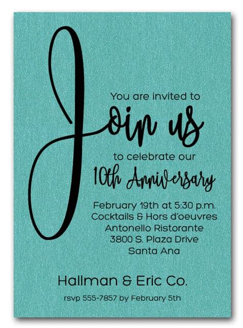 join  shimmery turquoise business anniversary party