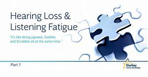 Hearing Loss And Listening Fatigue  Part 1