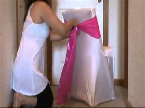 comment faire un noeud sur une housse de chaise www sublime mariage fr