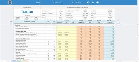 residential construction cost estimator excel spreadsheet