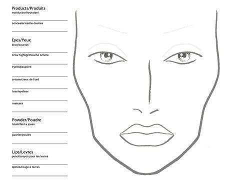 makeup artist  blank mac makeup chart
