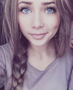 blue eyes, braid, braid blue eyes, brown hair - image ...