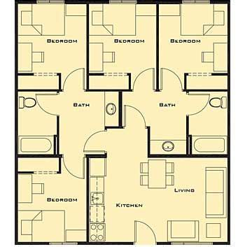house with 4 bedrooms small 4 bedroom house plans free home future students