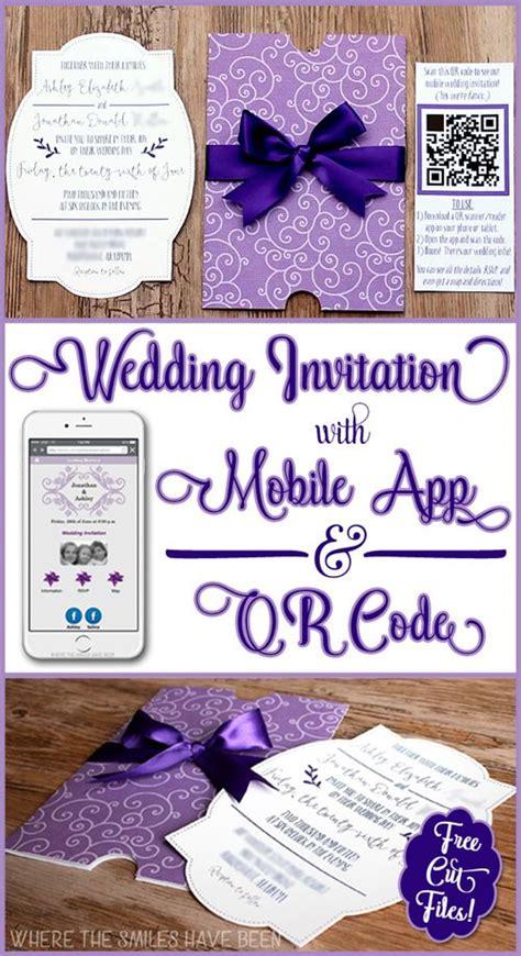 diy wedding invites  mobile app qr code  cut