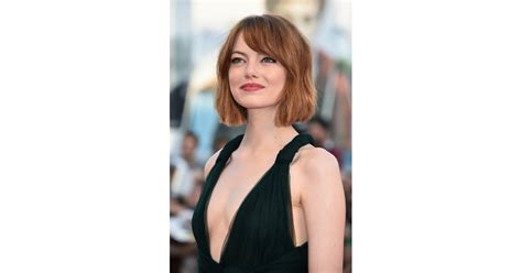 Emma Stones Lob From The Front Emma Stones Haircut