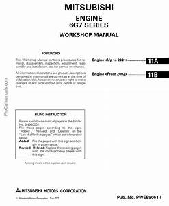 Mitsubishi Engine 6g7 Series Workshop Manual