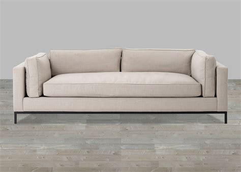Beige Linen Sofa With Single Seat Cushion