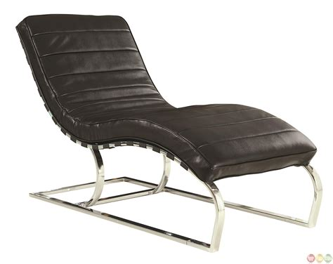 Black Chaise Lounge by Black Faux Leather Upholstery Chaise Lounge Accent Chair