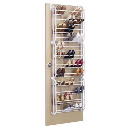 walmart shoe rack whitmor 36 pair the door shoe rack walmart