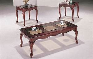 cherry high gloss finish traditional 3pc coffee table set With cherry finish coffee table sets