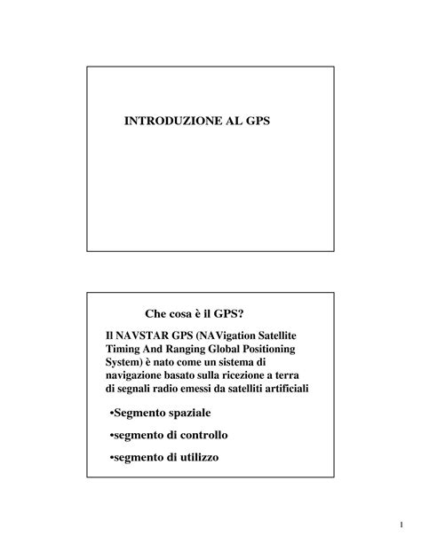 dispense topografia gps global positioning system dispense